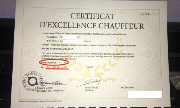 Avez vous votre diplôme d'excellence Allocab ?