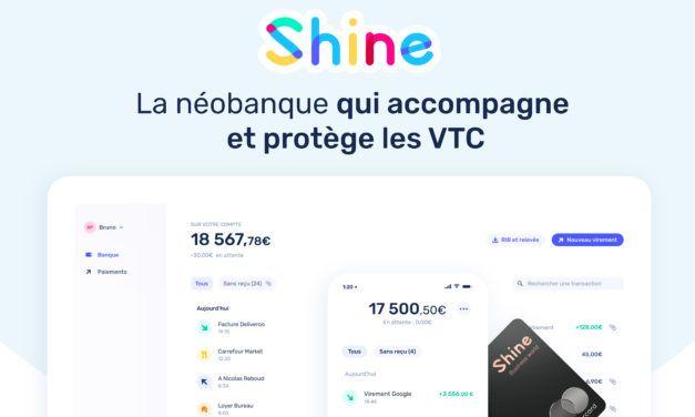 Shine : la néobanque qui accompagne et protège les chauffeurs VTC